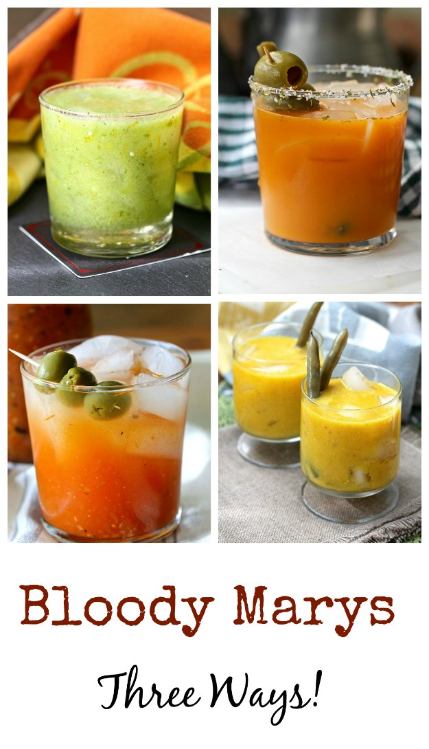 Bloody Marys Three Ways