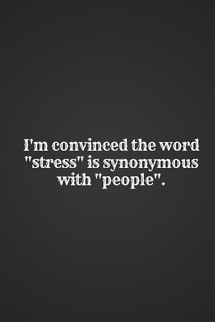 Stress is now synonymous with people. But its all about how you deal with that stress.