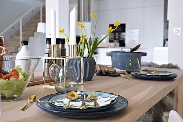 Nordicday.cz - Obědový talíř Sandrine Blue od Bloomingville