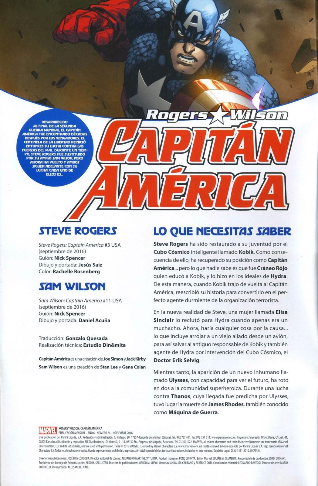 Galicia Comic: Capitan America 74