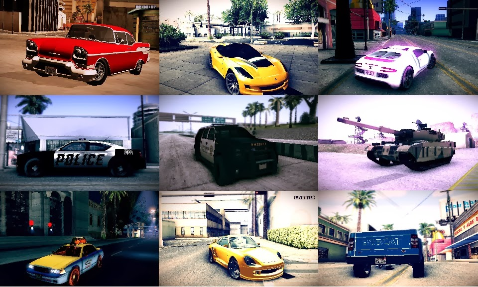 THE MODDING PRODIGY: GTA V Cars Pack for GTA San Andreas