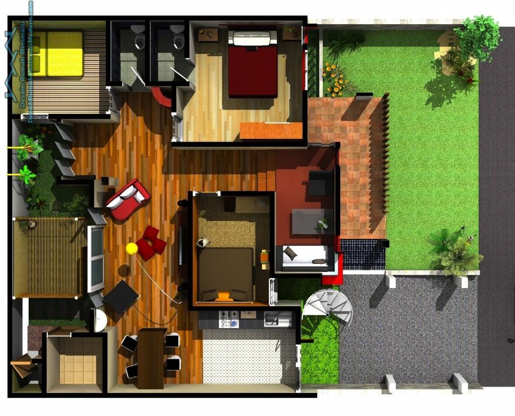 Inilah Denah Rumah Minimalis 1 Lantai