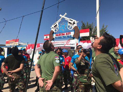 Lomba 17-an Ala TNI dan Peacekeeper di Lebanon