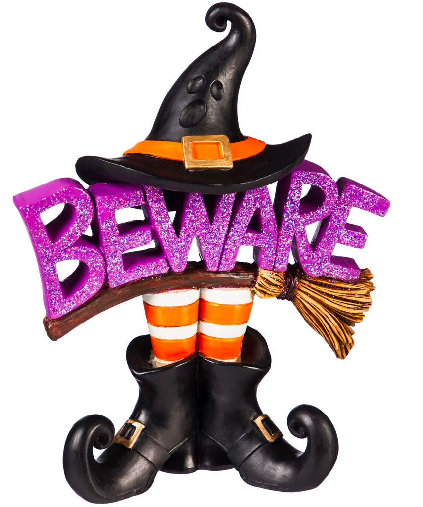 Witch Beware Tabletop Decor