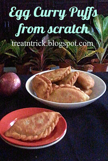 Egg Curry Puffs from scratch Recipe @ treatntrick.blogspot.com