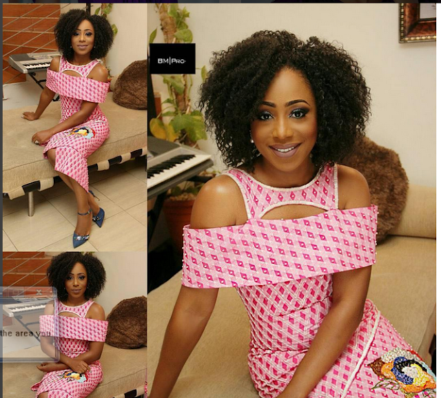 Star Actress, Dakore Egbuson-Akande Sizzles In Blistering Purple Gown To GMAA16
