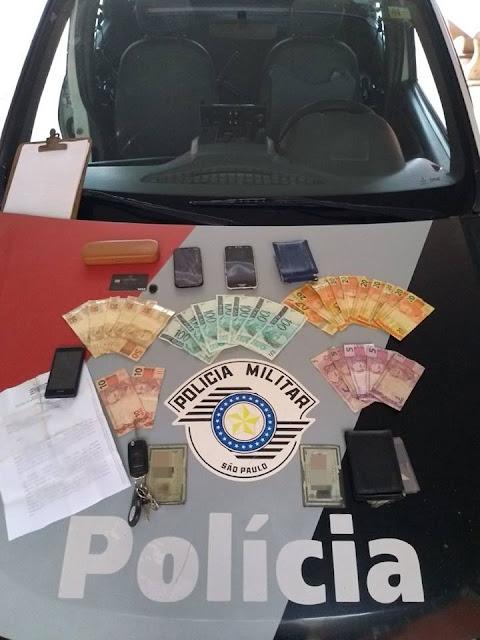 POLÍCIA MILITAR PRENDE ESTELIONATÁRIOS EM MIRACATU