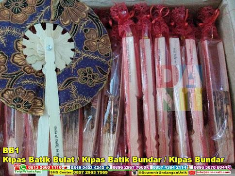 jual Kipas Batik Bulat / Kipas Batik Bundar / Kipas Bundar