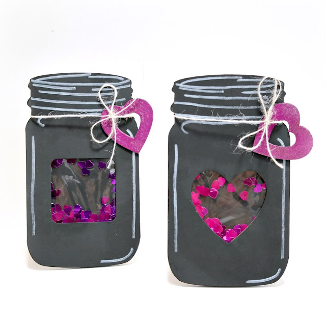 Chalkboard Mason Jar Shaker Cards by Dana Tatar for FabScraps