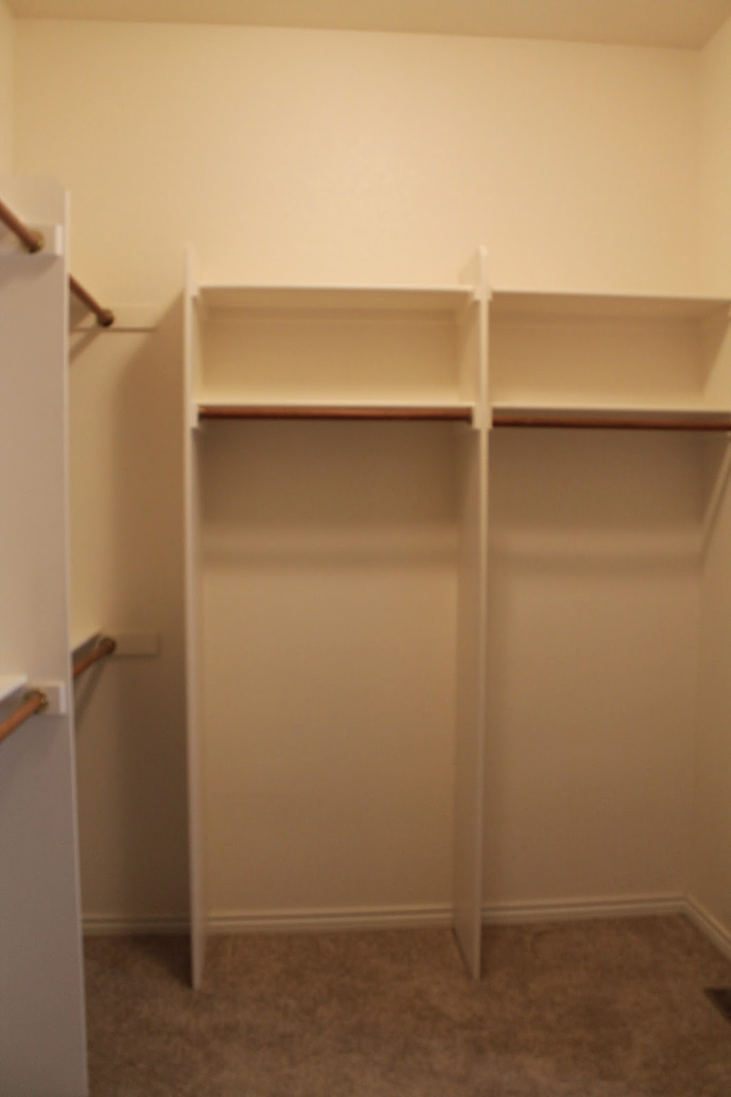 Southern seazons master closet redo part 2 for Southern closets