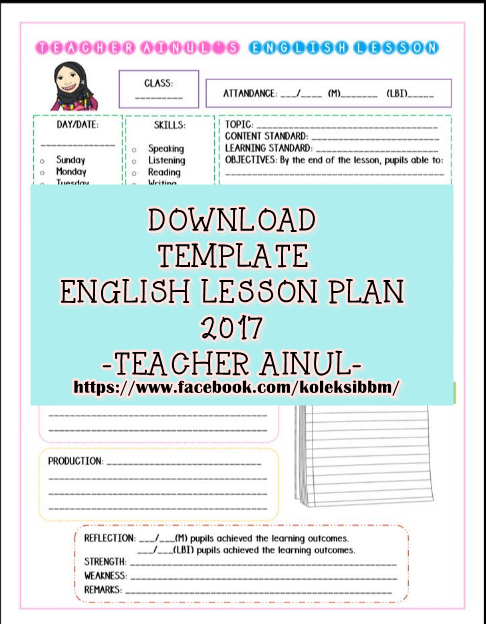 Koleksi bahan bantu belajar bbm download template for Efl lesson plan template