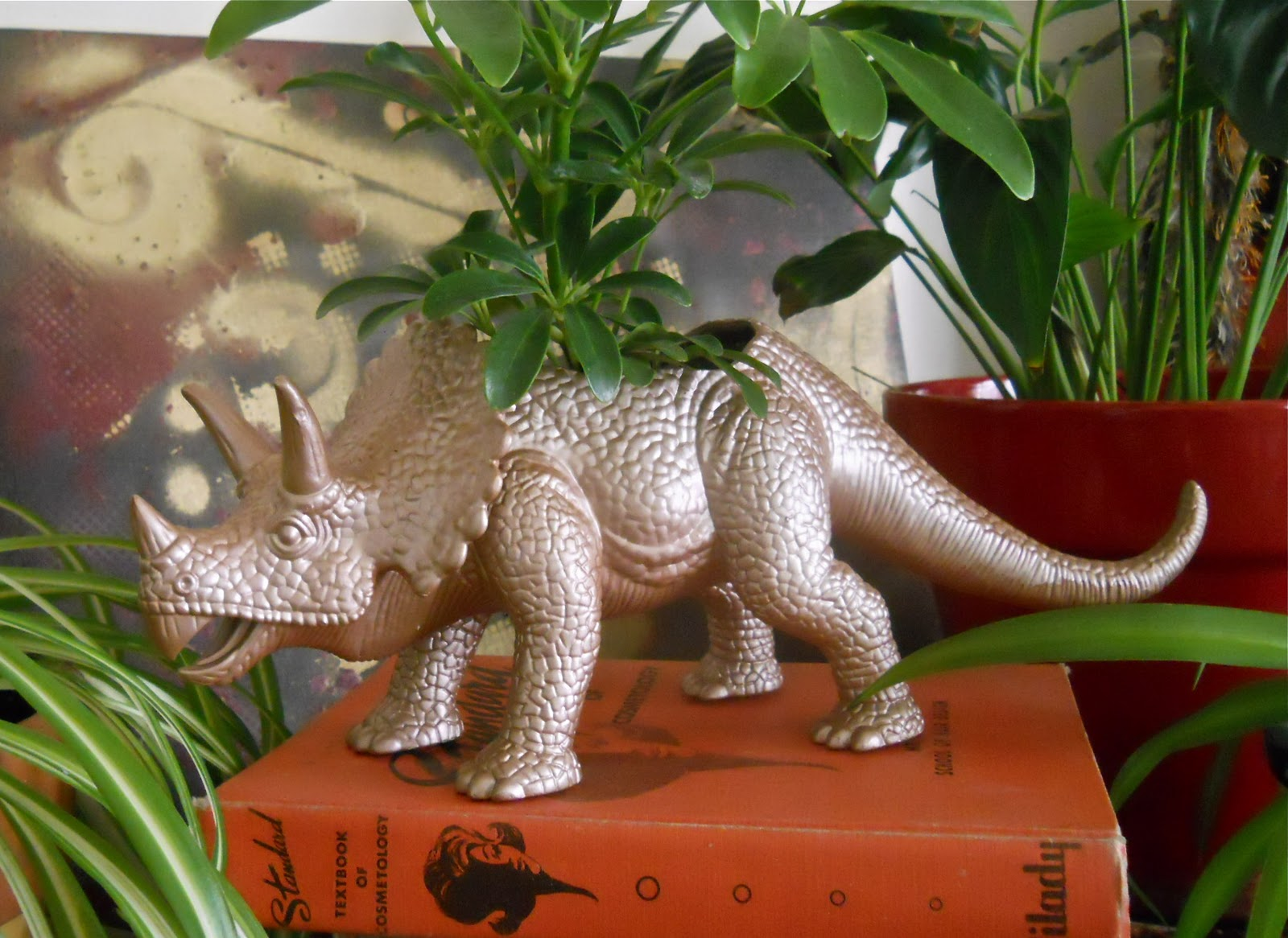 DIY Dinosaur Toy Small Plant Planter