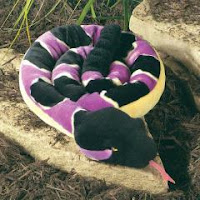 purple timber rattlesnake plush stuffed animal toy