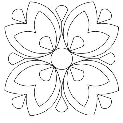 Tranh tô màu trang trí hình vuông đơn giản lớp 6