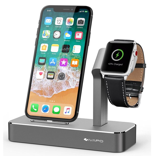 Save 40% On iVAPO 2 in 1 Apple Charging Holder