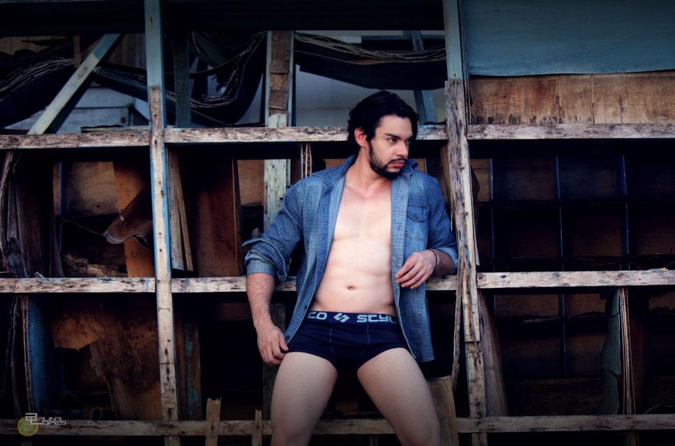 Robert Nascimento, Mister Poços de Caldas, posa para editorial de moda. Foto: Bruna Lopes