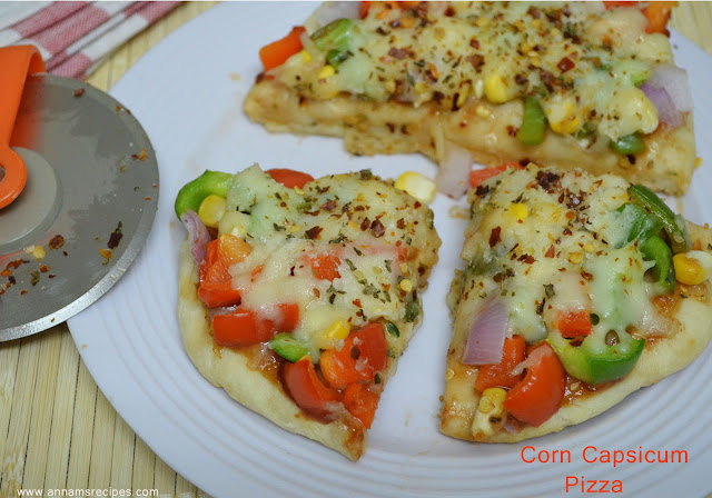 Corn Capsicum Pizza