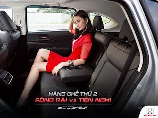 Hàng ghế thứ 2 Honda CR-V