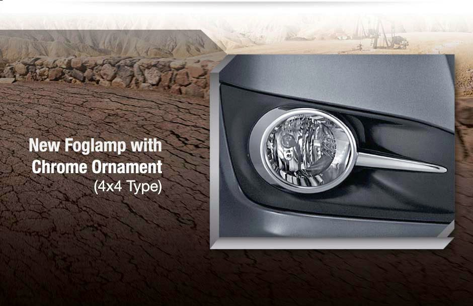 fortuner foglamp-chrome ornament