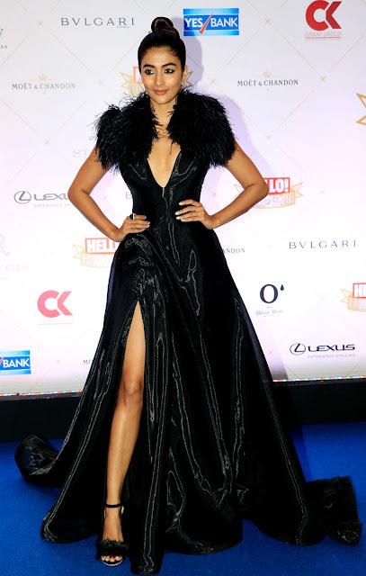 pooja hedge latest photo-pic-in-hd in black dress