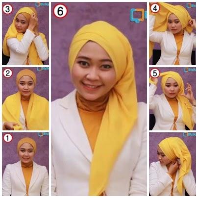 Tutorial dan Model Hijab Segi Empat Trendy Terbaru
