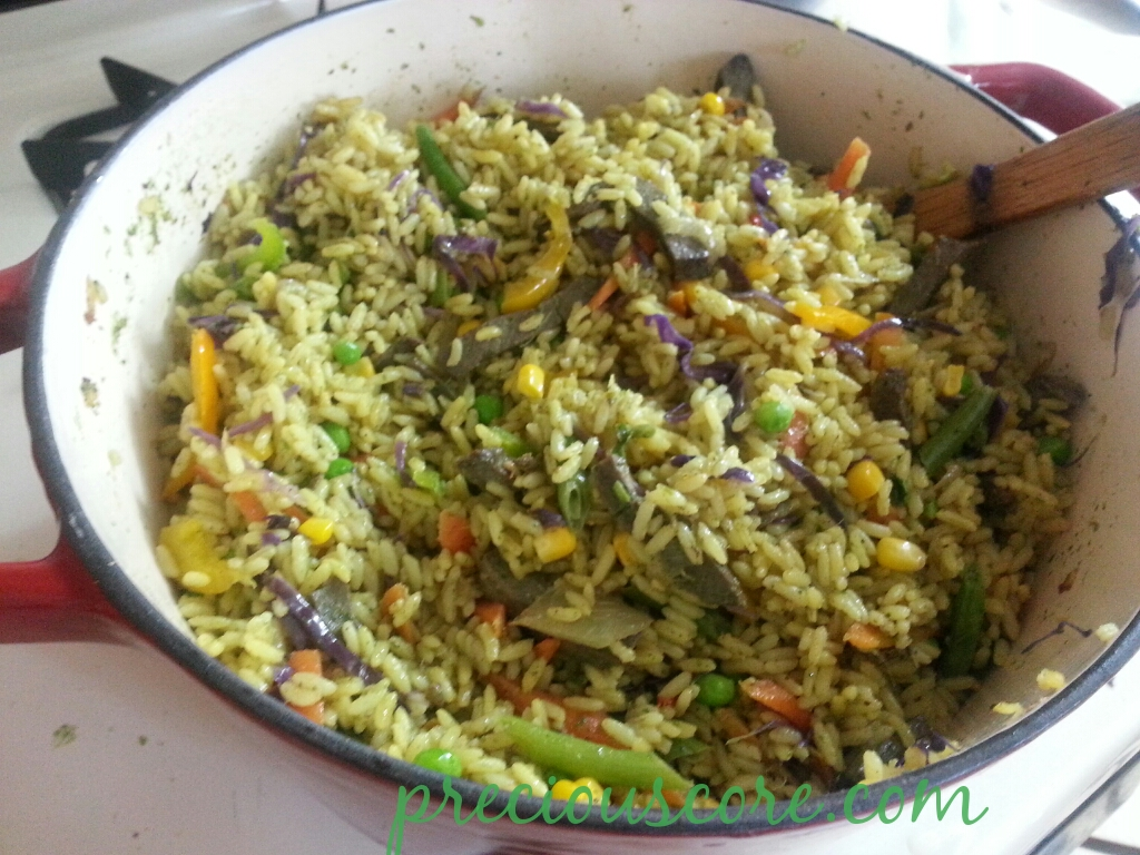 How to make delicious fried rice video precious core you can as well call that pot up there a pot of heaven because the taste of that rice is simply off the hook here is how i made it ccuart Image collections