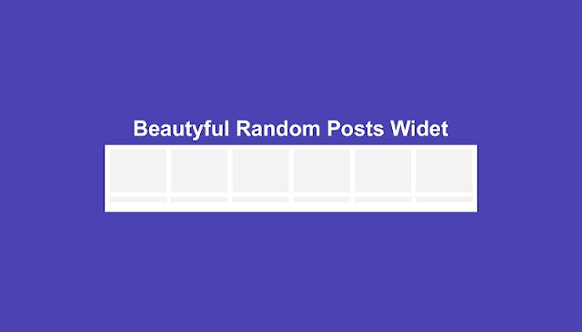 Random Posts Widget cho blogger 2019