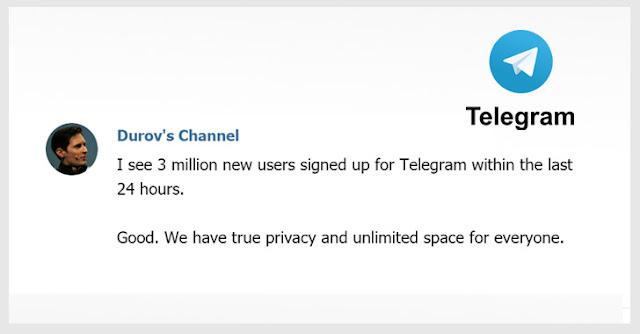 Telegram có thêm 3 triệu người dùng mới trong khoảng thời gian WhatsApp và Facebook bị lỗi - CyberSec365.org