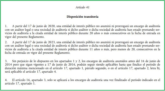 artículo 41 del Reglamento (UE) nº 537/2014 (RUE).