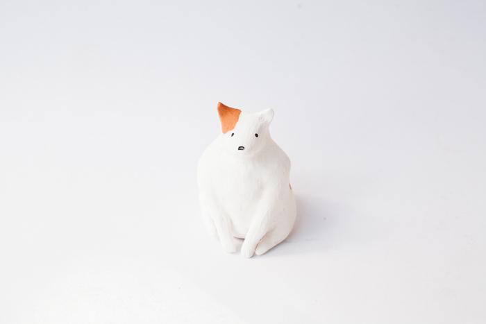 fat clay dog