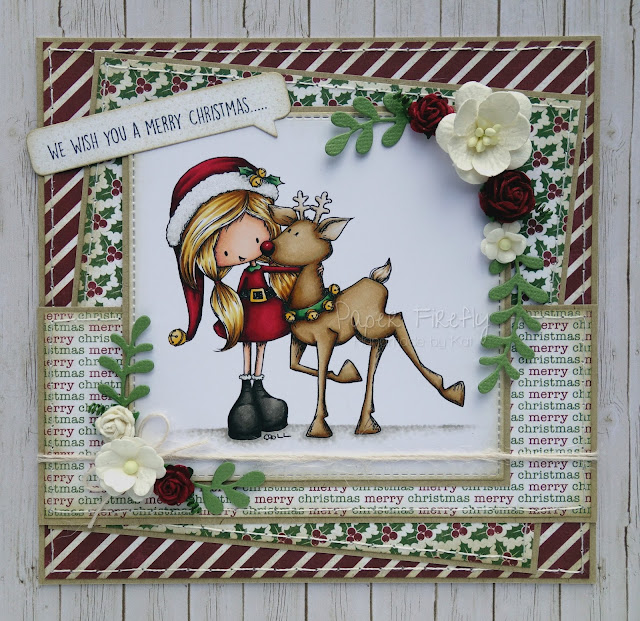 Christmas card using Christmas Wishes by Tiddly Inks