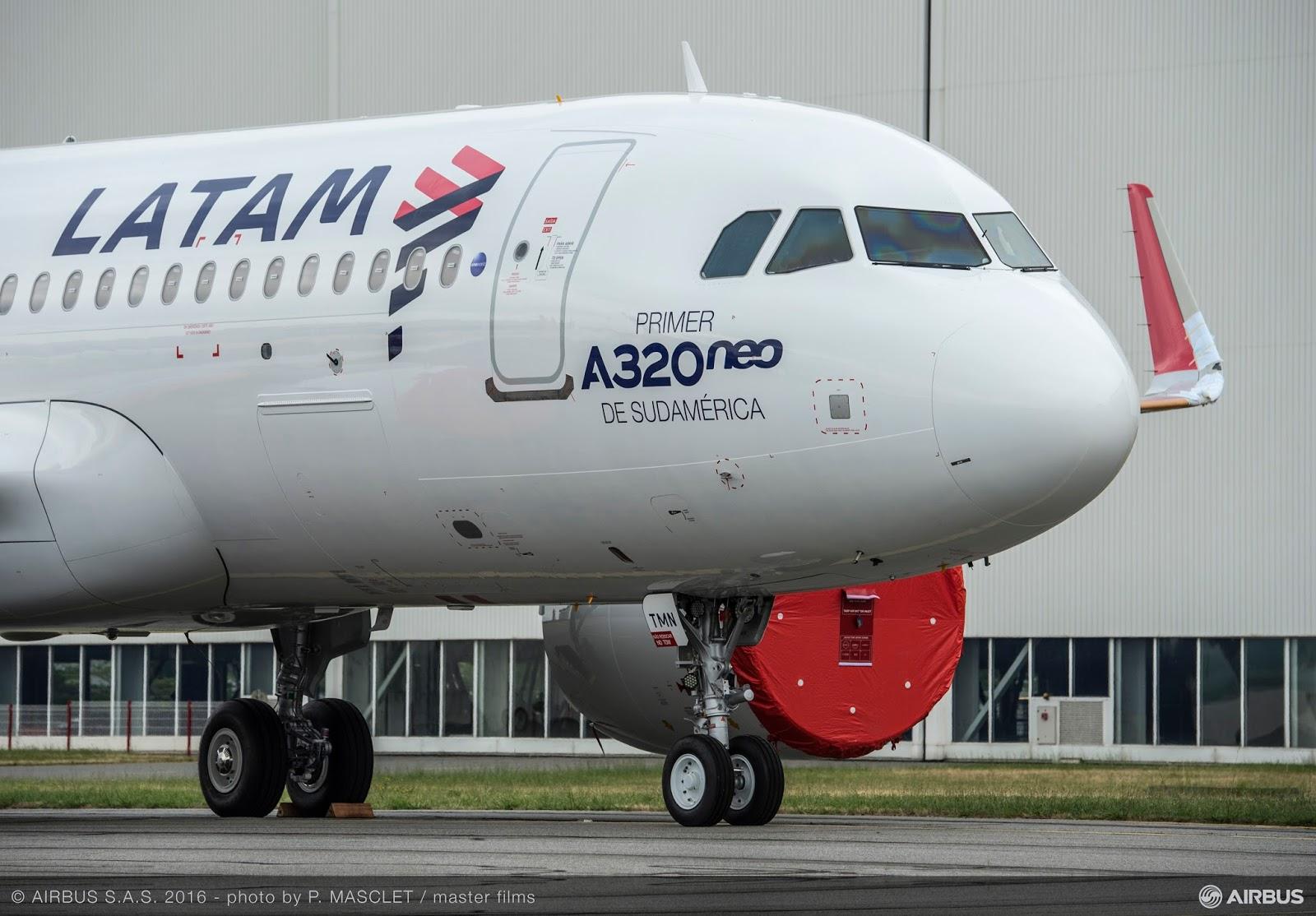 Veja fotos do primeiro A320neo da LATAM