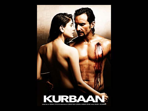 Kurbaan Movie poster, Kareena Kapoor and saif ali khan in kurbaan