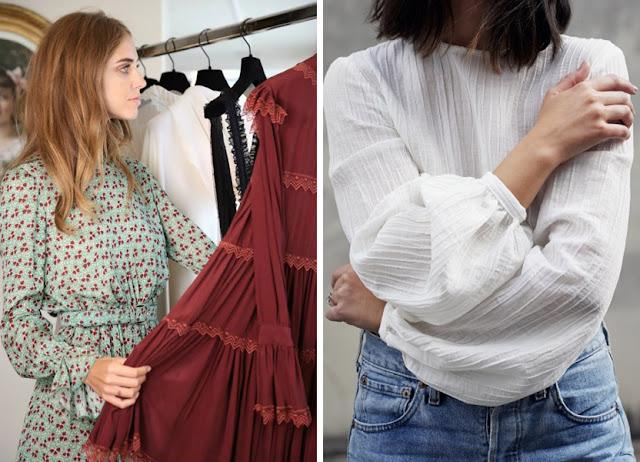Платье и блузка из креп жоржета
