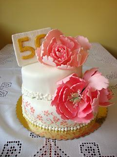 Tarta 50 aniversario boda