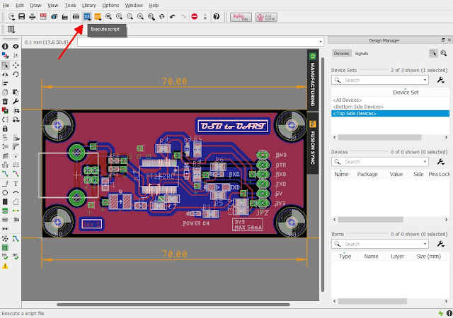 Export a PCB layout image in Eagle CAD using script
