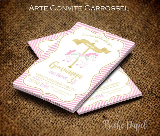 Convite Carrossel Encantado virtual