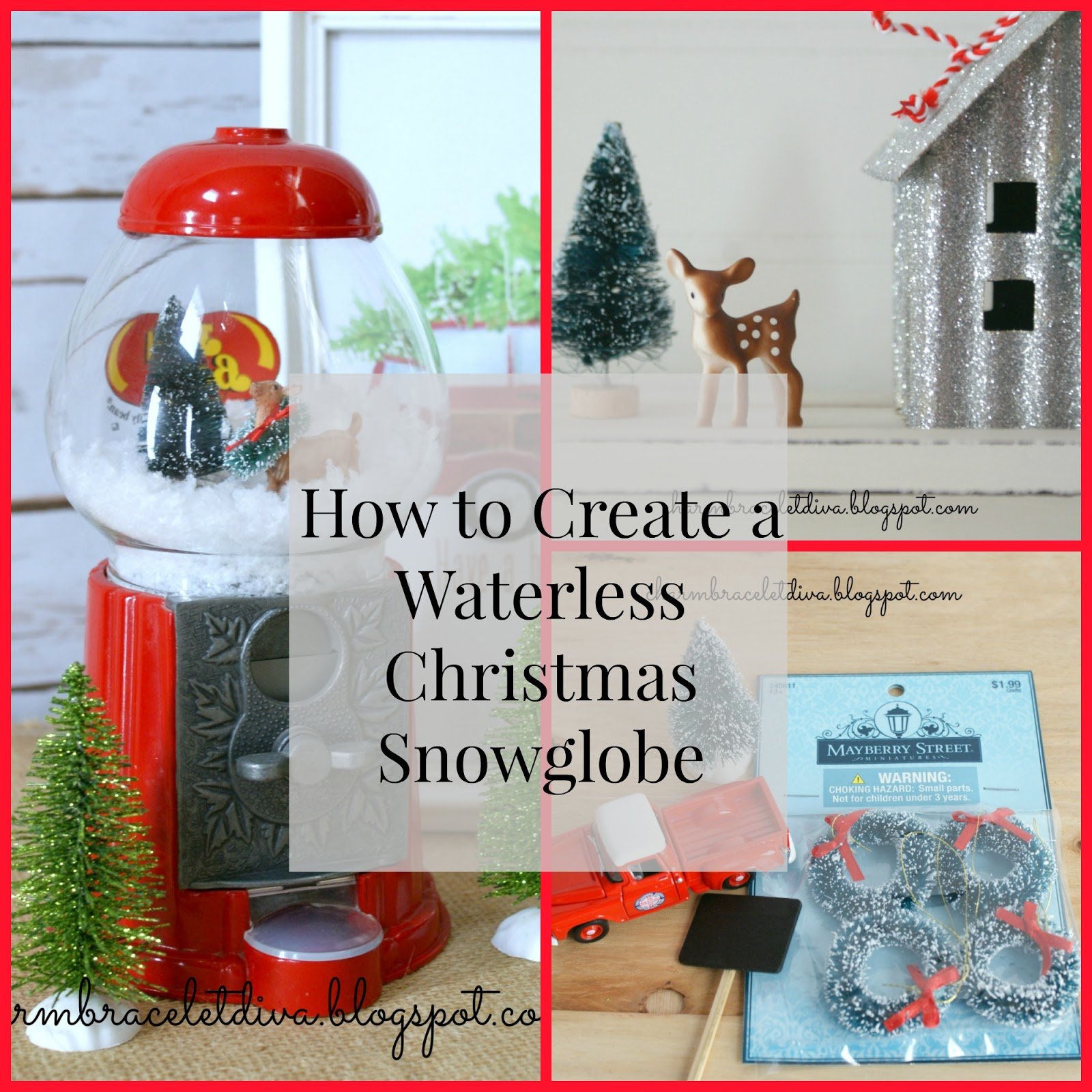 Our Hopeful Home: How To Create A Waterless Christmas Snow Globe: Tips And Tricks