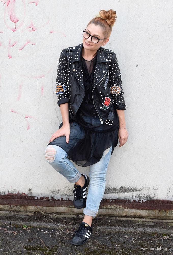 Lederjacke mit Jeans kombinieren, Jeans und Lederjacke