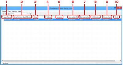 PIXMA TS8150 IJ Network Device Setup Utility
