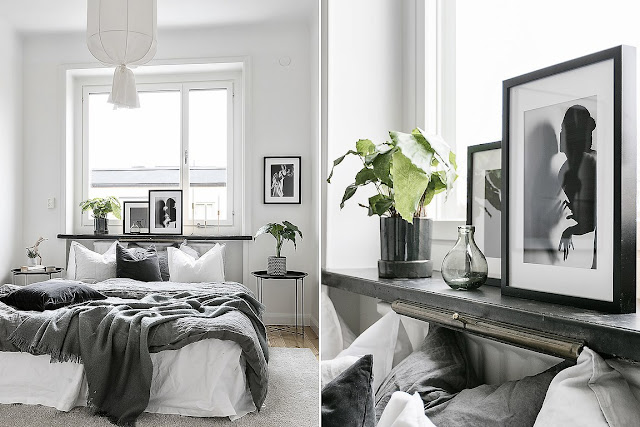 Black and white beauty in the scandinavian interior