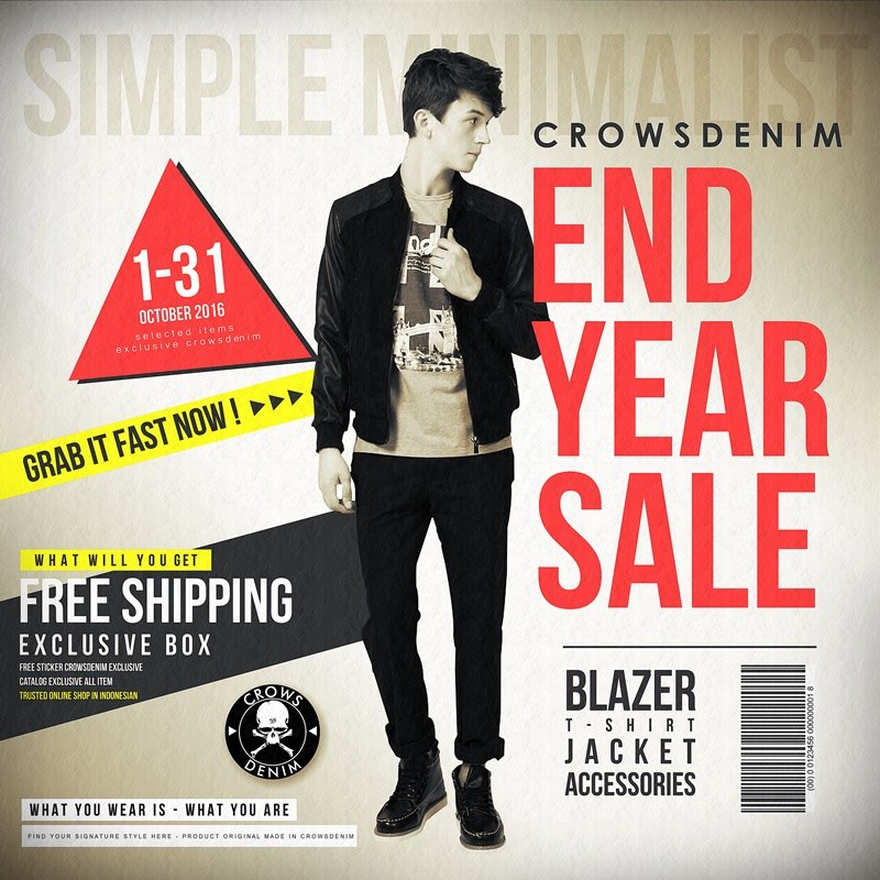 end year sale crows denim promo banner diskon oktober