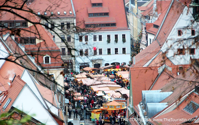 Pirna view. Travel Germany The Canaletto Christmas Market in Saxony's Pirna