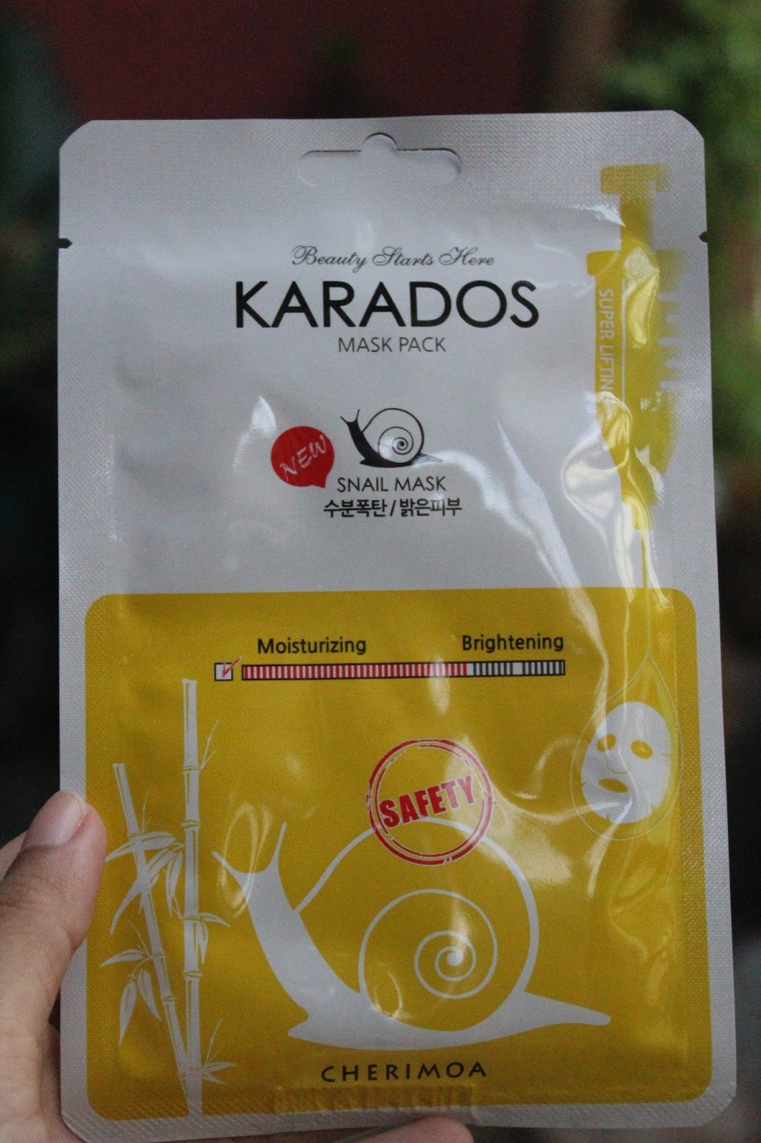Review Karados Snail Mask Masker Korea Super Murah Turquois Whitening Powder Bubuk