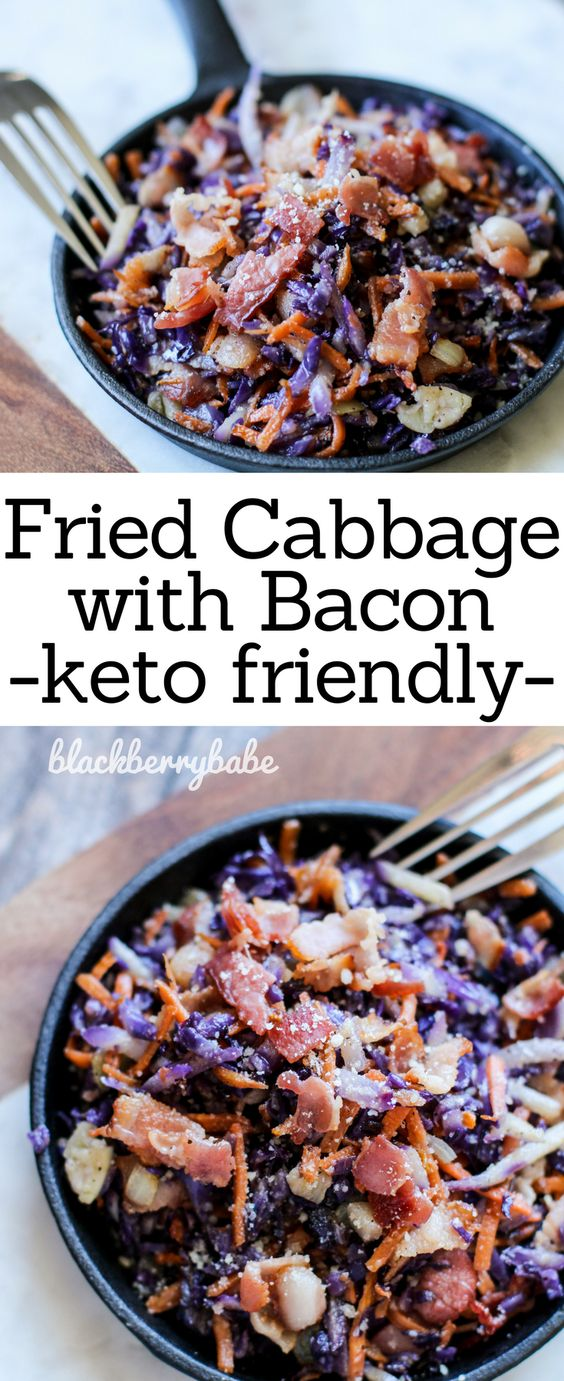 FRIED CABBAGE WITH BACON (KETO FRIENDLY)
