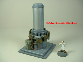 Mad science lab equipment containment tower - side view
