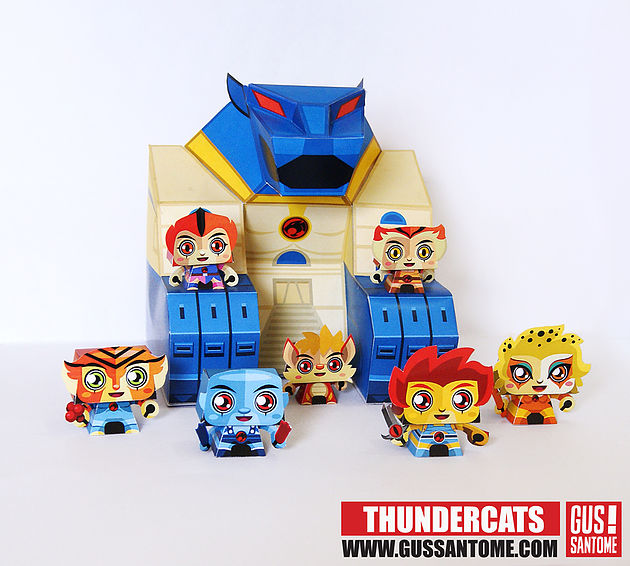 Thundercats: 3D Free Printable  Paper Toys  - Oh My Fiesta