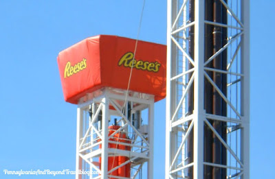 Triple Tower Thrill Ride at Hersheypark in Hershey Pennsylvania