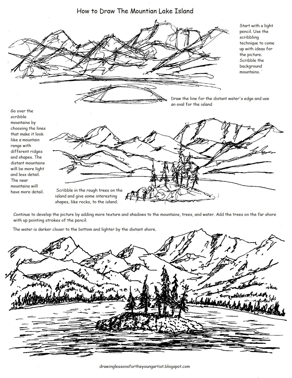How to Draw Worksheets for The Young Artist Printable How To Draw – How to Draw Worksheets