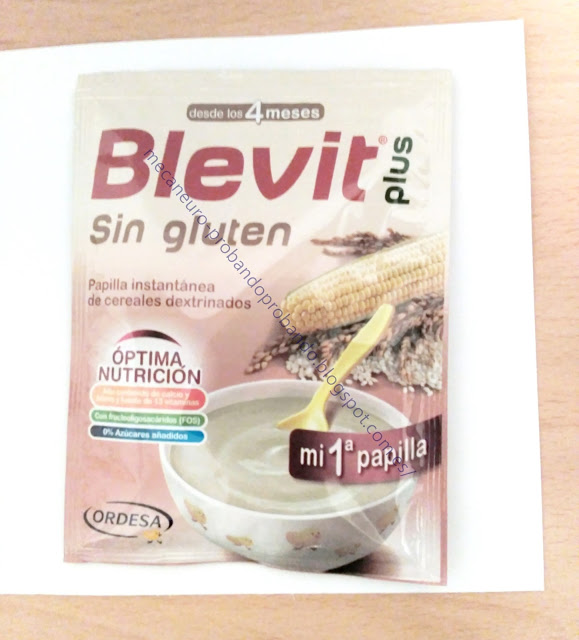 Blevit Plus sin gluten mi primera papilla muestra gratis
